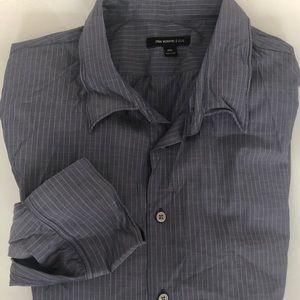 NWOT xxl John Varvatos button up striped shirt